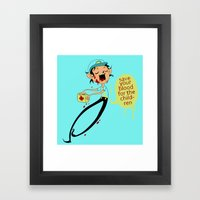 Save Your Blood For The Children Framed Art Print