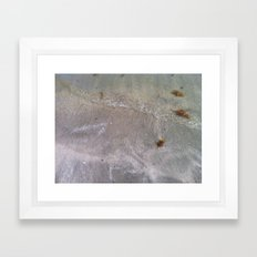 Sandy Waves Framed Art Print
