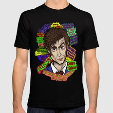 The 10th Doctor SMALL Mens Fitted Tee Black