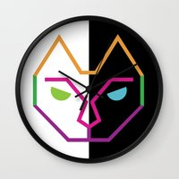 Abstract Multicolored Ca… Wall Clock