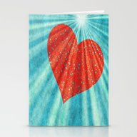 Flying Heart Stationery Cards