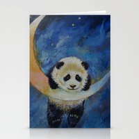 Panda Stars Stationery Cards