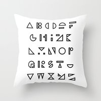 ABC Outline Throw Pillow