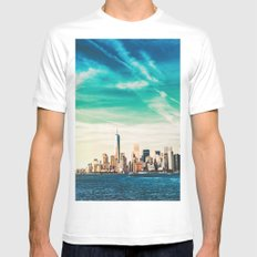 NYC Skyline SMALL Mens Fitted Tee White