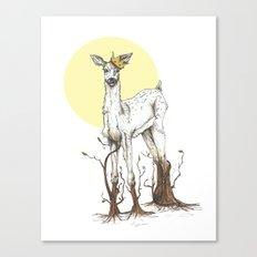 Doe Tree Canvas Print