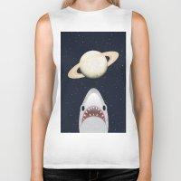 The Universe Is A Shark's Playground Biker Tank