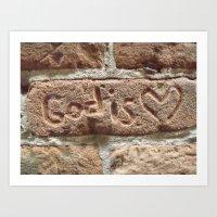God is Love. Art Print