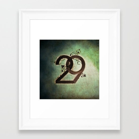 29 Framed Art Print