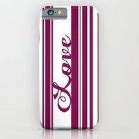 iPhone & iPod Case featuring Barcode Love; Purple. by Michaela Palmer