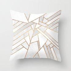 White Night Throw Pillow