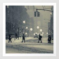 Snow City Art Print