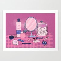 Beauty Products Art Print