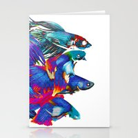 Fighting Fishes Betta Sp… Stationery Cards