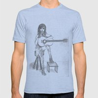 Now If Only I Could Play Guitar (sketch) Mens Fitted Tee Athletic Blue SMALL
