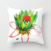 Alice's Water Lily Throw Pillow