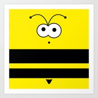 Minimal Bee Art Print