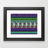 Wolves- Blue Framed Art Print