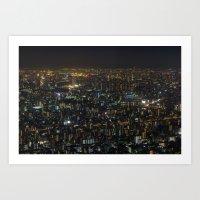 Tokyo night view Art Print