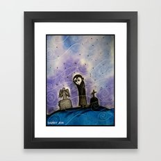 Graveyard Boy Framed Art Print