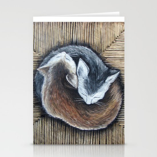 Cats rest Stationery Card