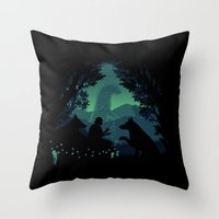 Forest Dwellers Throw Pillow
