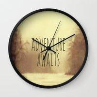 Adventure Awaits II Wall Clock