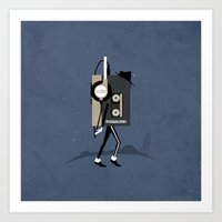 Moonwalkman Art Print