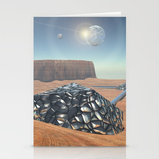 Mars Babylon Colony, view of Armageddon  Stationery Card