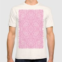 Ab Lace Pink Mens Fitted Tee Natural SMALL