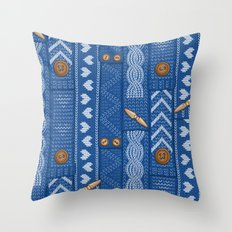Scarves Knitted Buttoned… Throw Pillow