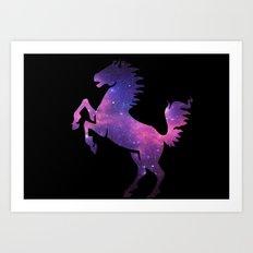 SPACE HORSE Art Print