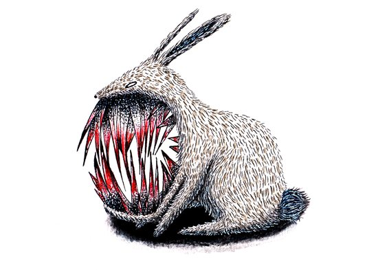 Murderous Rabbit Art Print