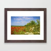 Poppy Fields Framed Art Print