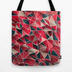 Abstract Red Tote Bag