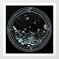 Miniature Circle Landsca… Art Print
