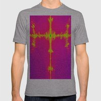 Abstract 3d Block Image Mens Fitted Tee Athletic Grey SMALL