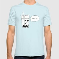 Suck It Up Mens Fitted Tee Light Blue SMALL