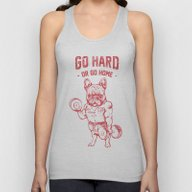 GO HARD OR GO HOME FRENC… Unisex Tank Top