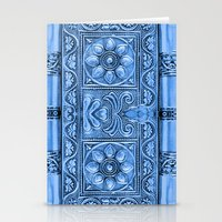 Blue Vintage Metal Treas… Stationery Cards
