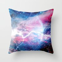 Throw Pillow featuring Starred Lightning by MattXM85