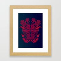 Tropical Rorschach Framed Art Print