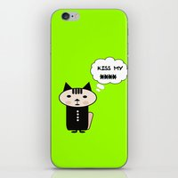 Lime cat iPhone & iPod Skin