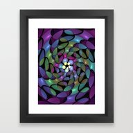 Framed Art Print featuring Fractal To The Centre by Gabiw Art
