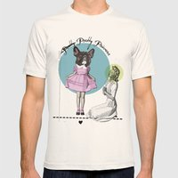 Pretty Chauncey Princess - French Bulldog Mens Fitted Tee Natural SMALL