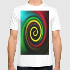 Swirling colours. Mens Fitted Tee White SMALL