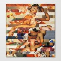 Glitch Pin-Up Redux: Natalie Canvas Print
