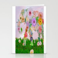 Elephant in my garden Stationery Cards