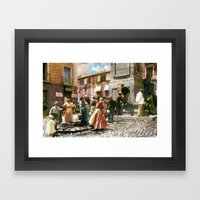 Genre scenes Framed Art Print