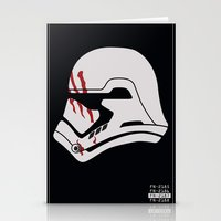 Finn Stormtrooper Profile Stationery Cards
