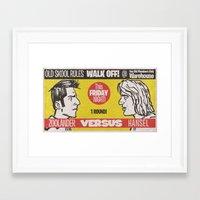 Zoolander VS Hansel Walk Off! Framed Art Print